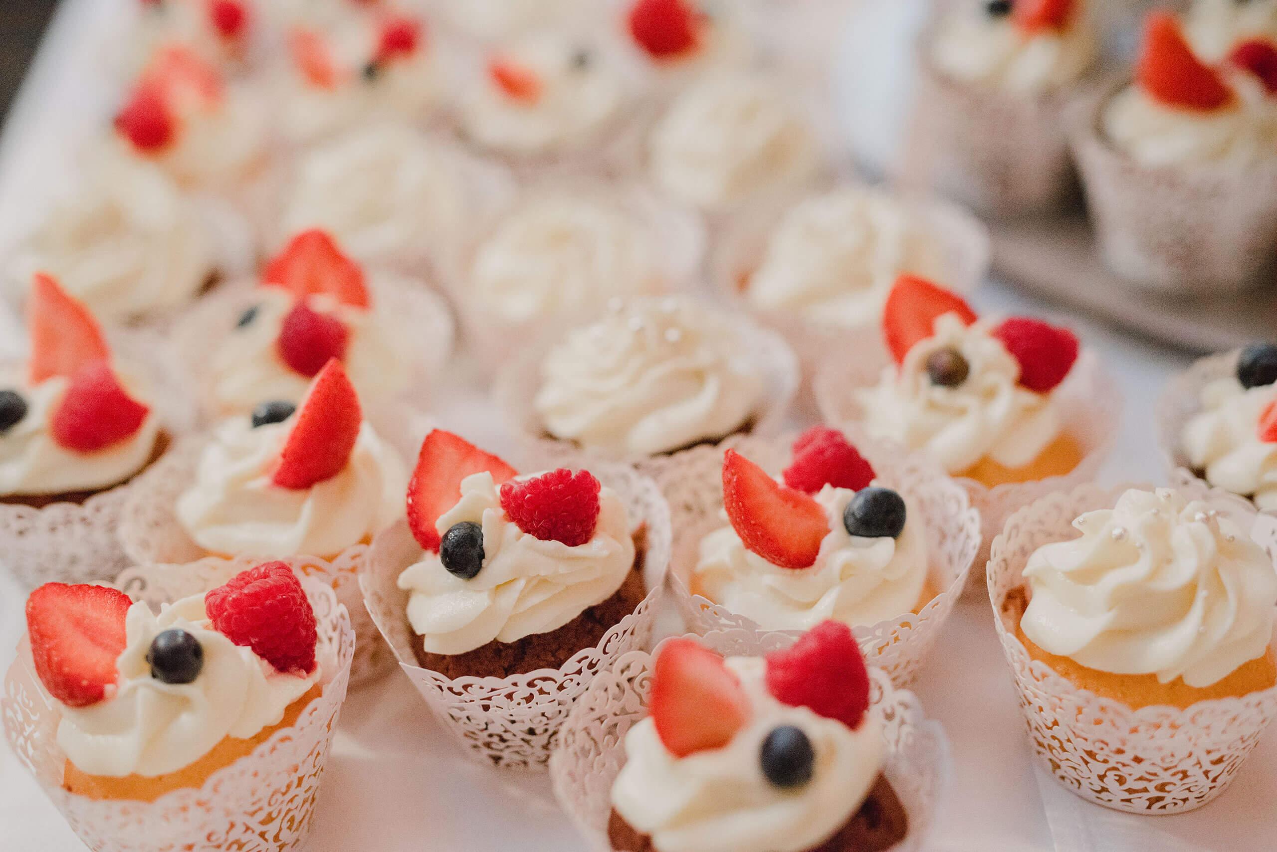 cupcake mit Früchten