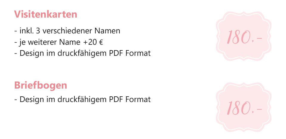 Visitenkarten Design Preise